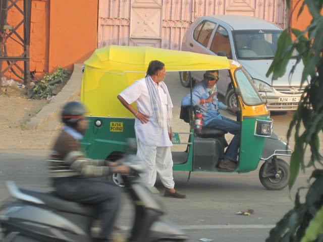 Tuk-tuk in Jaipur, my favorite of the cities we visited.