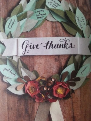 Give thanks vert