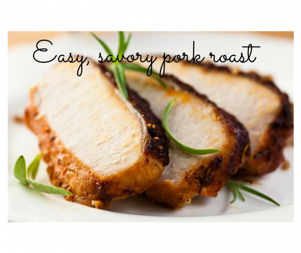 Easy, savory pork roast
